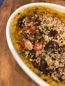 Layers of Sweet Potato Squash Casserole